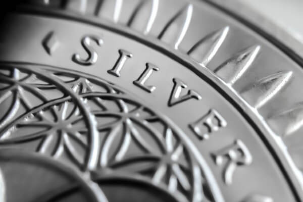 silver coin closeup