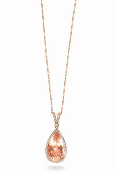 Morganite necklace