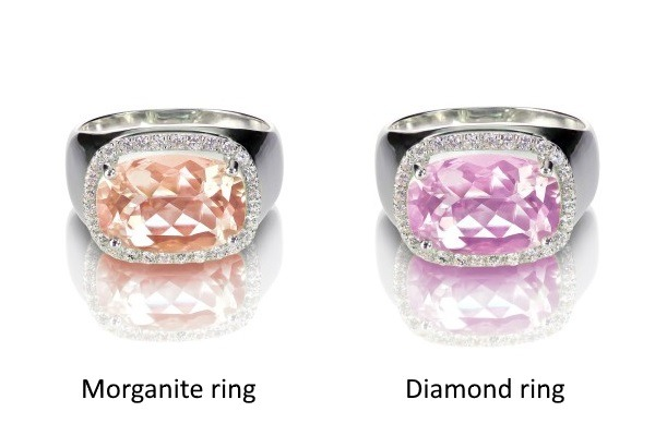 Morganite vs Diamond ring