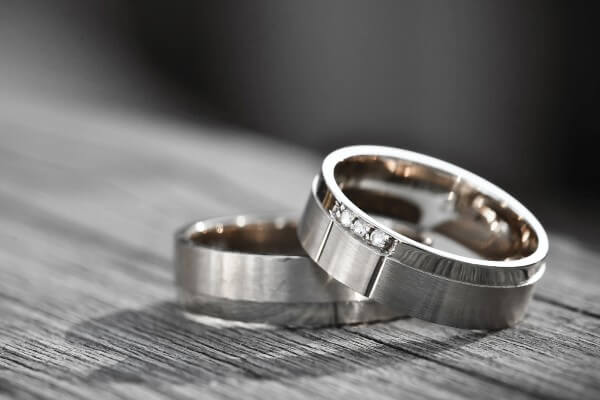 wedding rings palladium