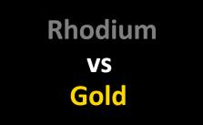 Rhodium vs Gold