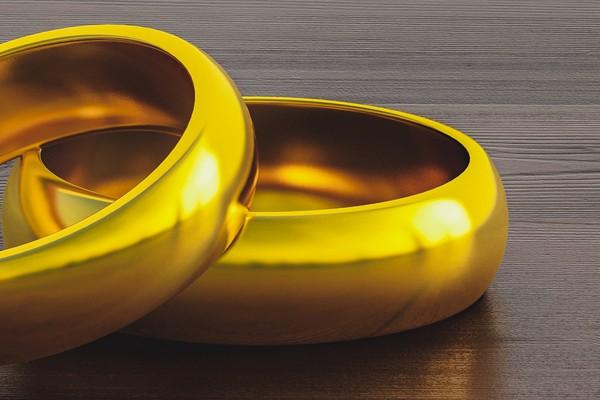 2 rings closeup