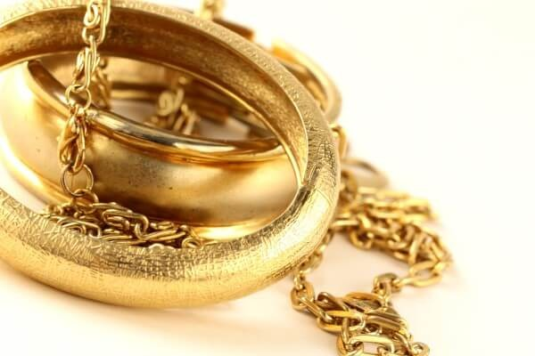 gold bracelet and chain