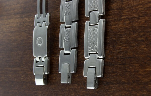 3 stainless steel bracelets
