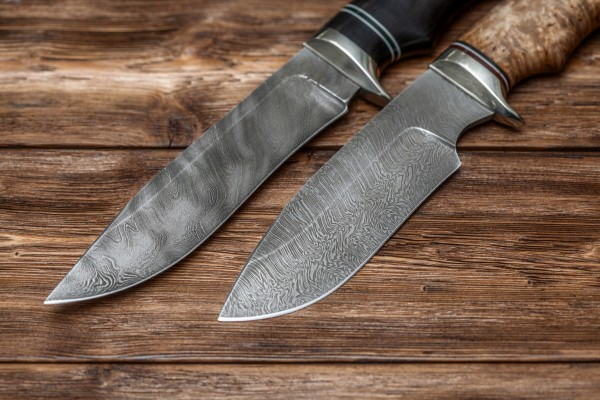 Damacus steel knives